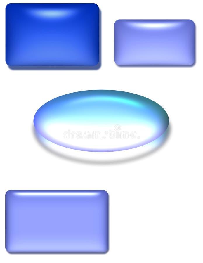 Glossy 3D shapes stock illustration