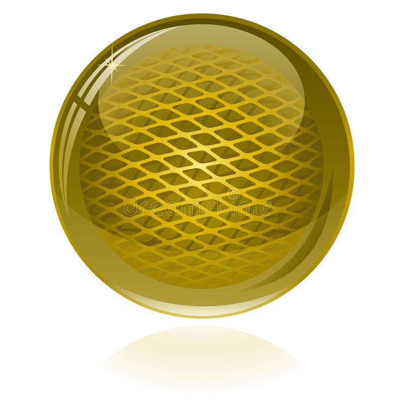 Download Glossy abstract sphere stock vector. Image of golden - 13789315