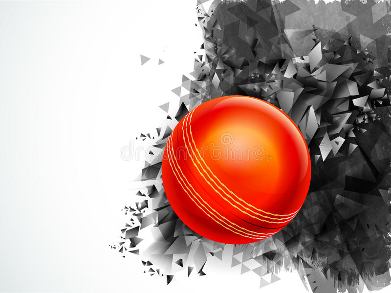 Glossy Ball for Cricket Sports concept. vector illustration