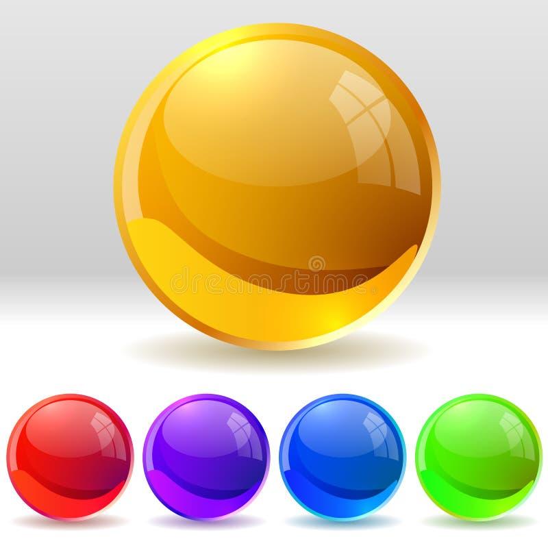 Glossy balls royalty free illustration