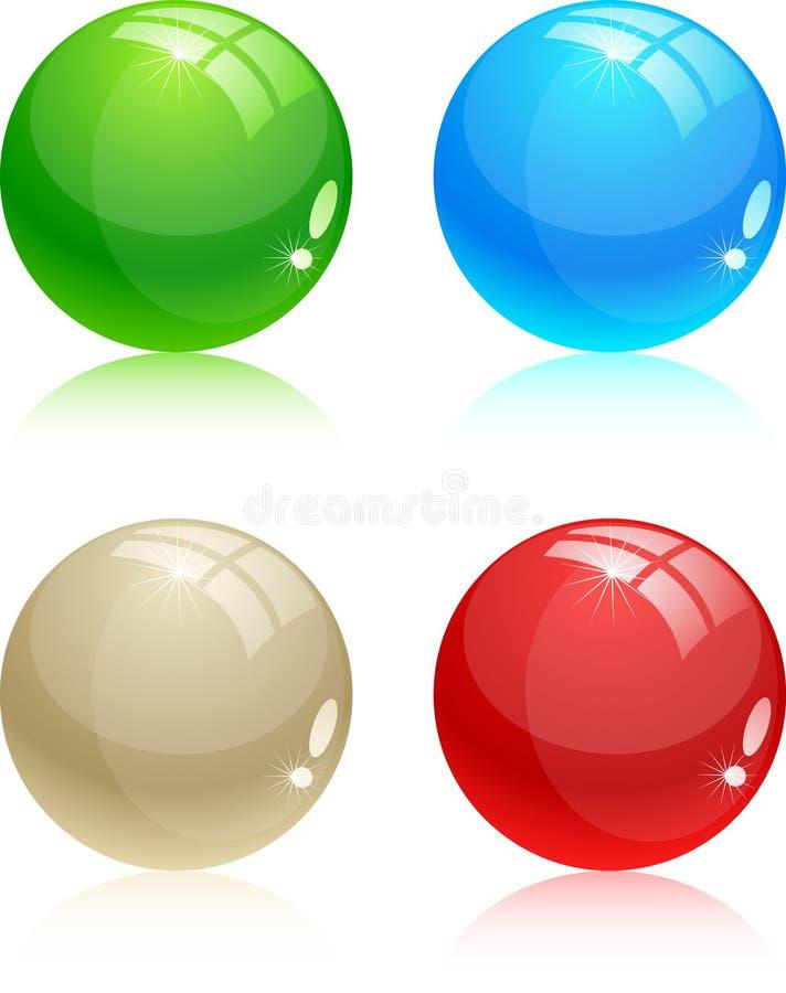 Glossy balls. stock illustration