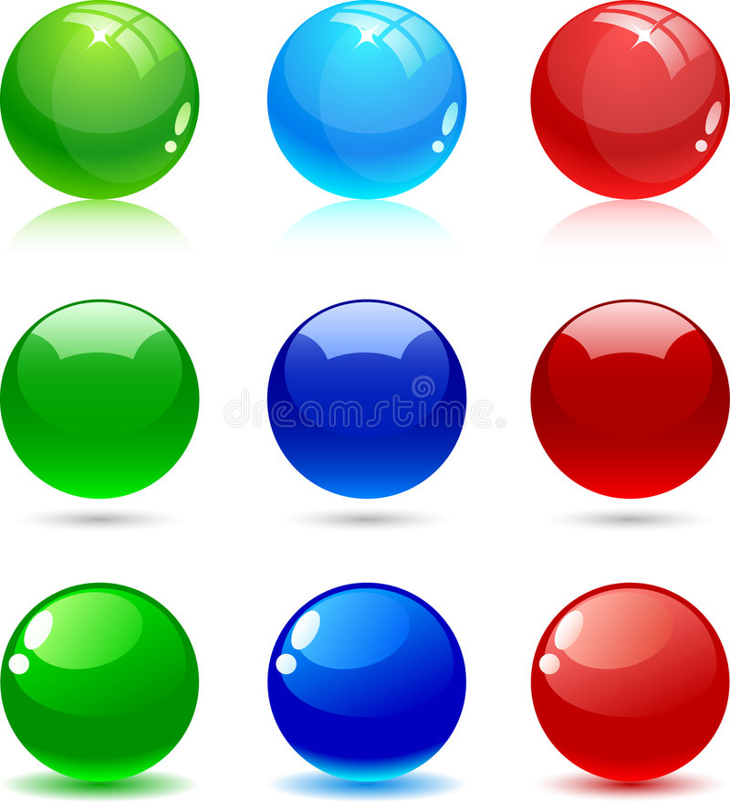 Glossy balls. vector illustration