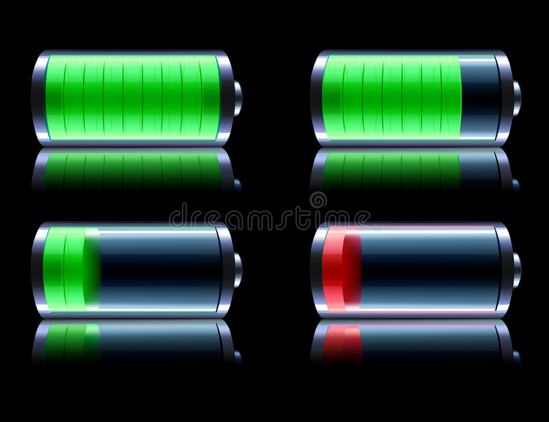 Glossy Battery Stock Photography