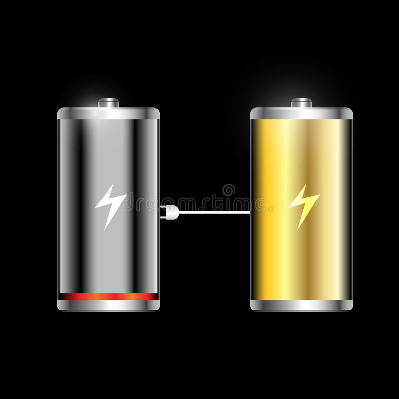Glossy battery icons vector. Is a general illustration vector illustration