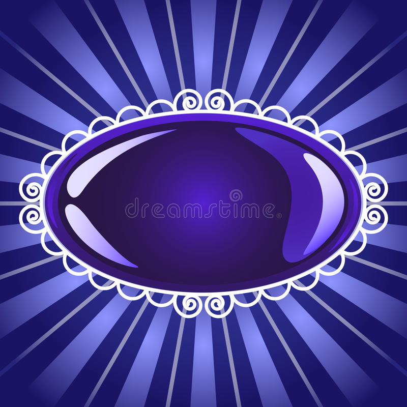 Glossy Blue Frame Button Or Billboard Stock Image