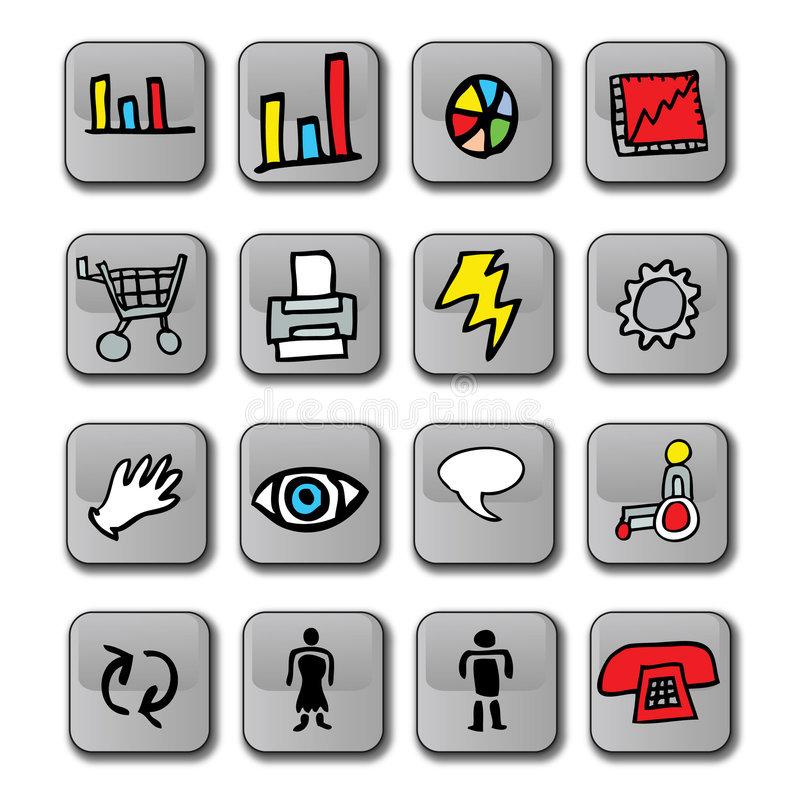 Download Glossy Business Icons stock illustration. Illustration of illustration - 5239121