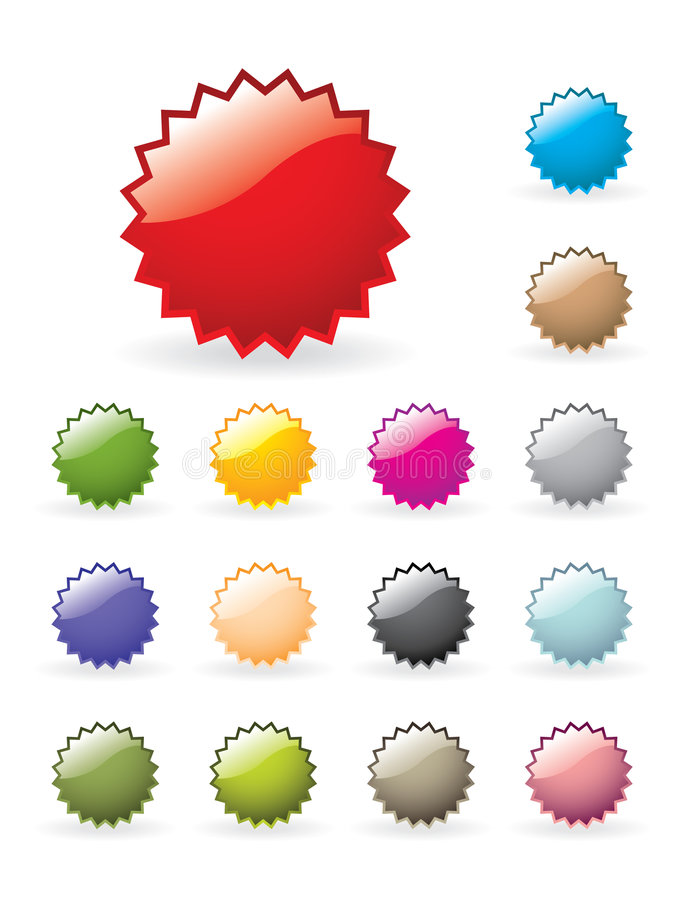 Download Glossy button set stock vector. Illustration of blue, purple - 6648973