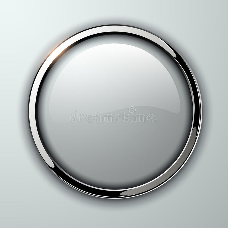 Glossy button royalty free illustration