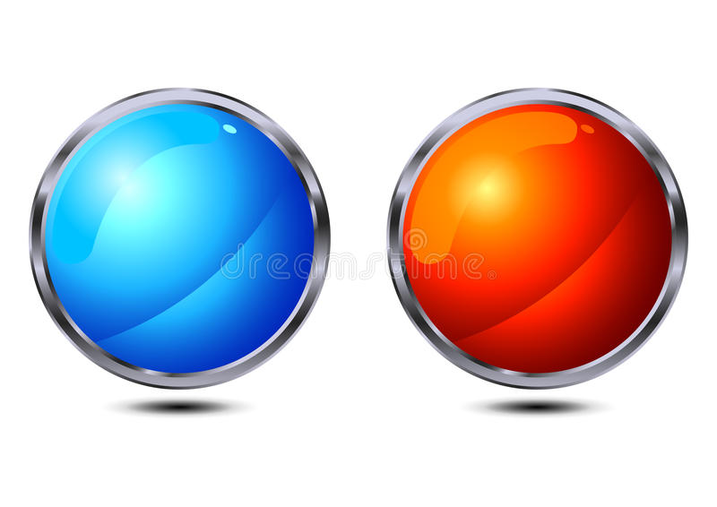 Glossy buttons vector illustration