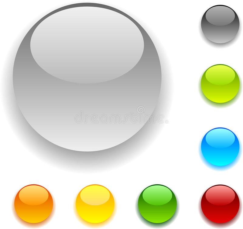 Download Glossy buttons. stock vector. Illustration of design, black - 8023388