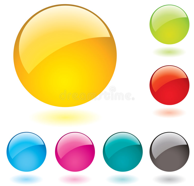 Glossy buttons royalty free illustration