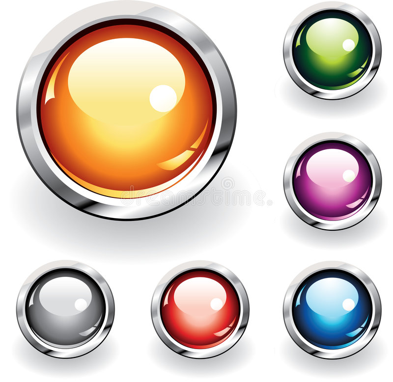 Glossy Buttons stock illustration