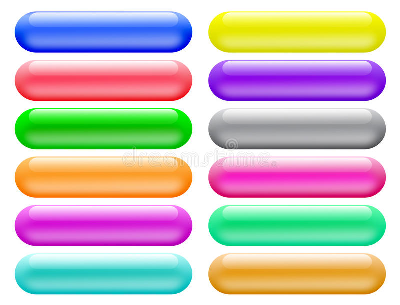 Glossy buttons banners for website royalty free illustration