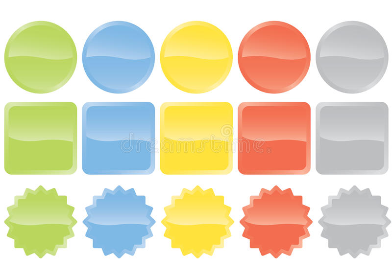 Download Glossy buttons stock vector. Image of buttons, prize - 30950187