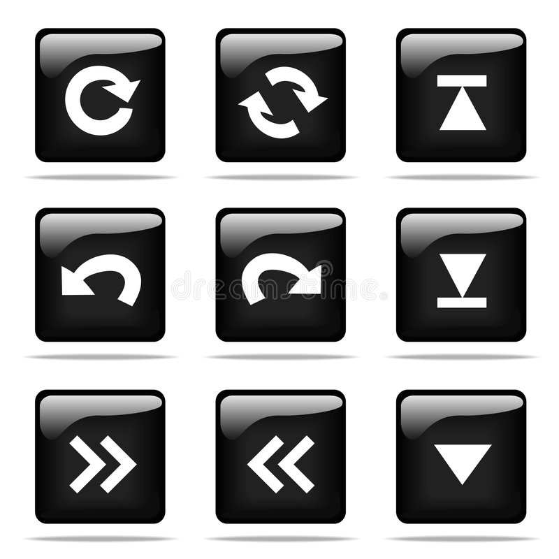 Download Glossy Buttons With Icons Set Stock Vector - Image: 5705003