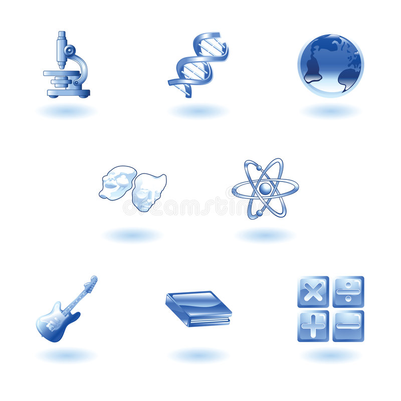 Download Glossy Category Education Web Icons Stock Vector - Illustration of clipart, mathematical: 9275201