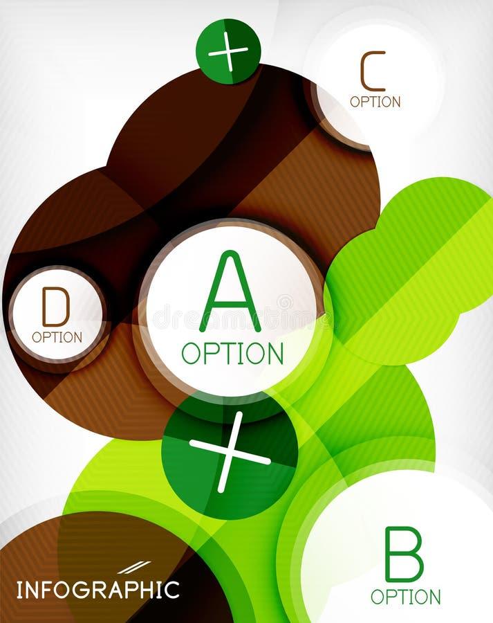 Glossy circle geometric shape info background. Glossy circle geometric shape info graphic background. For business presentation | technology | web design royalty free illustration