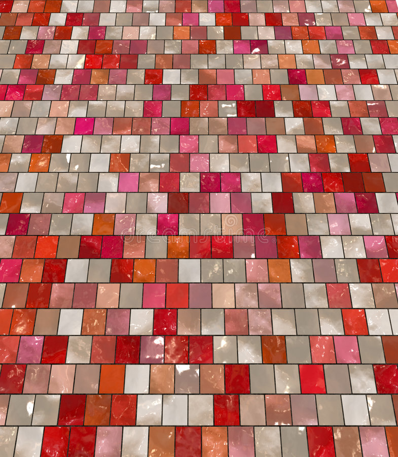Glossy clean tiles