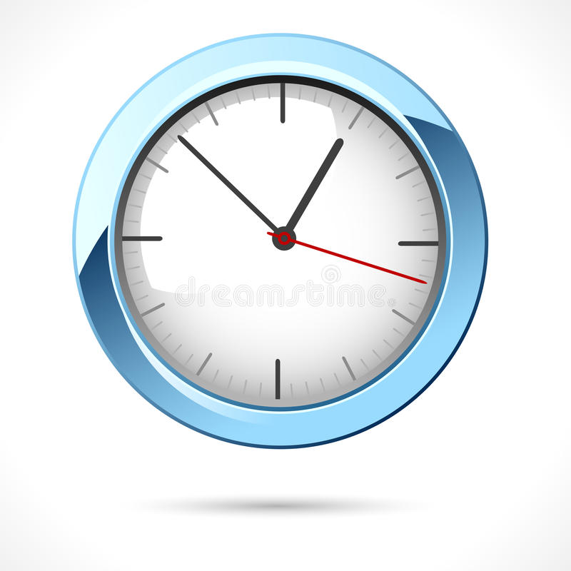 Free Glossy Clock Royalty Free Stock Image - 23671756