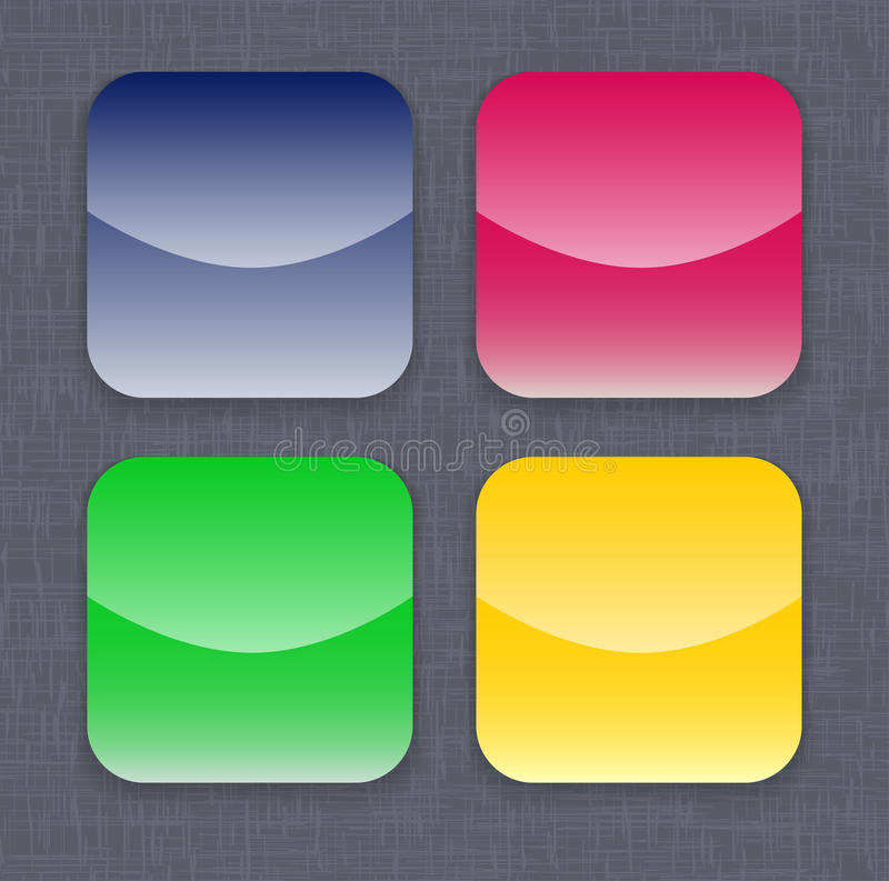 Glossy colorful app icon templates