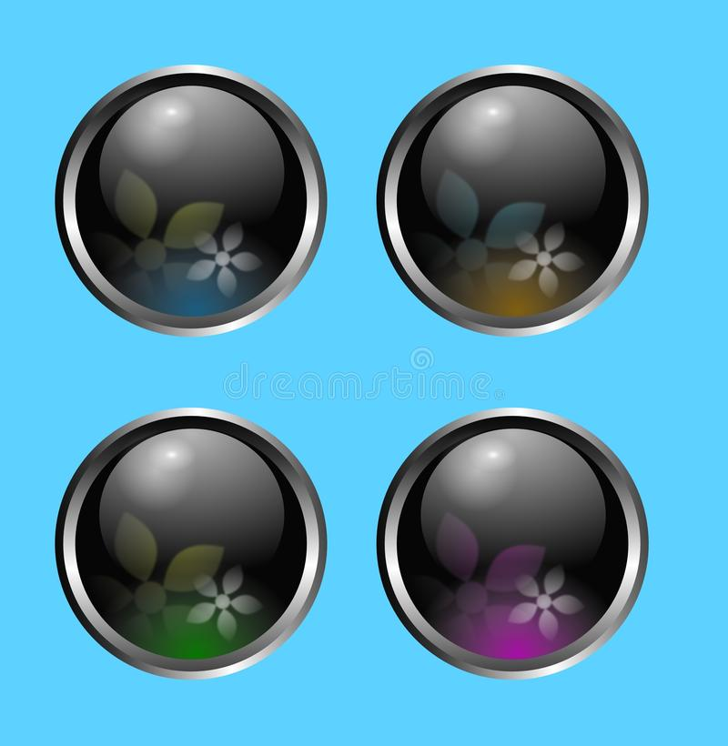 Glossy colorful ball buttons