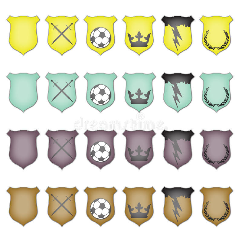 Download Glossy Crest Icon Set stock vector. Image of glossy, gradient - 11344429