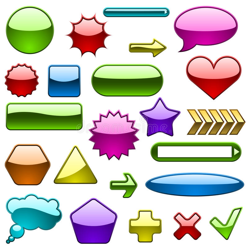 Download Glossy design elements stock vector. Image of icons, glass - 13150700