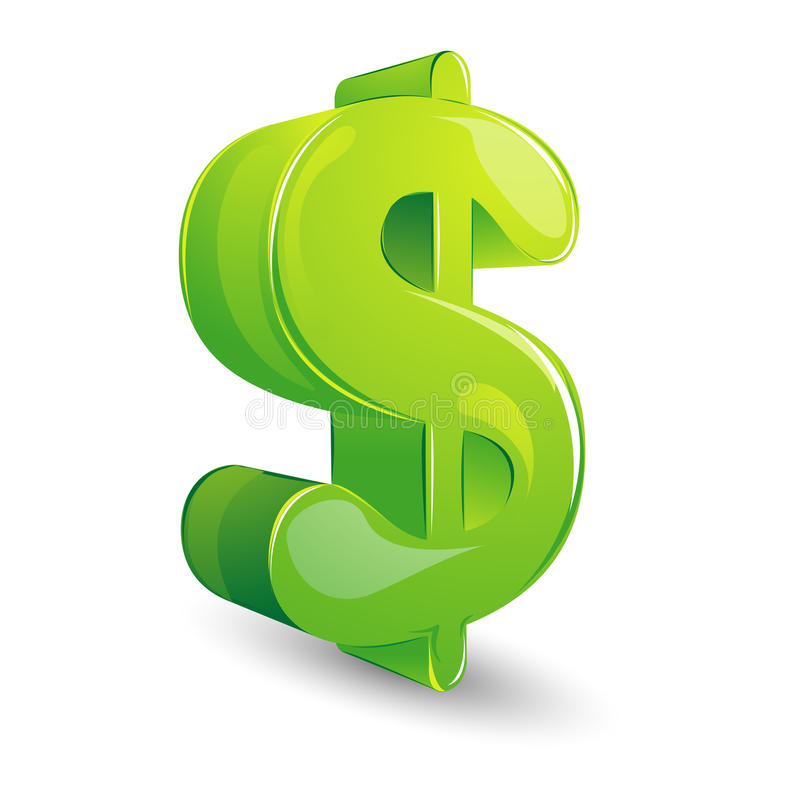 Glossy Dollar stock illustration