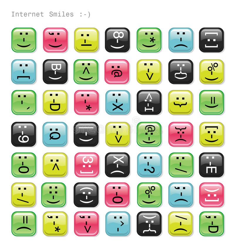 Download Glossy emotions icons. stock vector. Image of artistic - 4676447