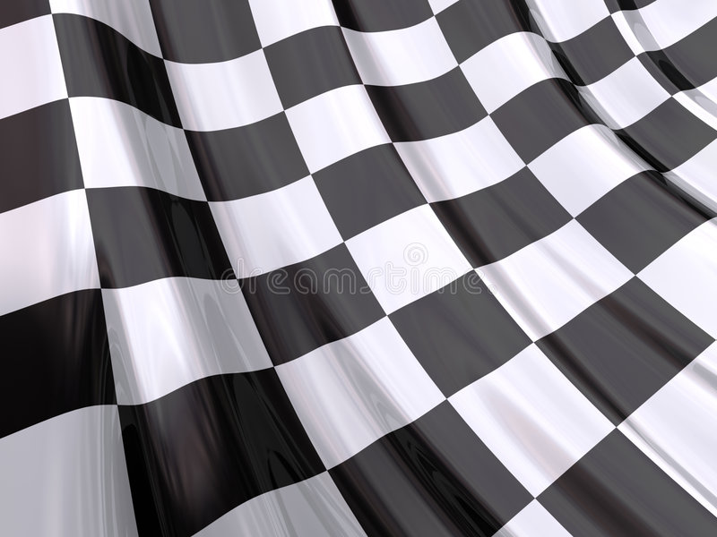 Download Glossy Flag Of End Of Race Stock Photo - Image: 4017350