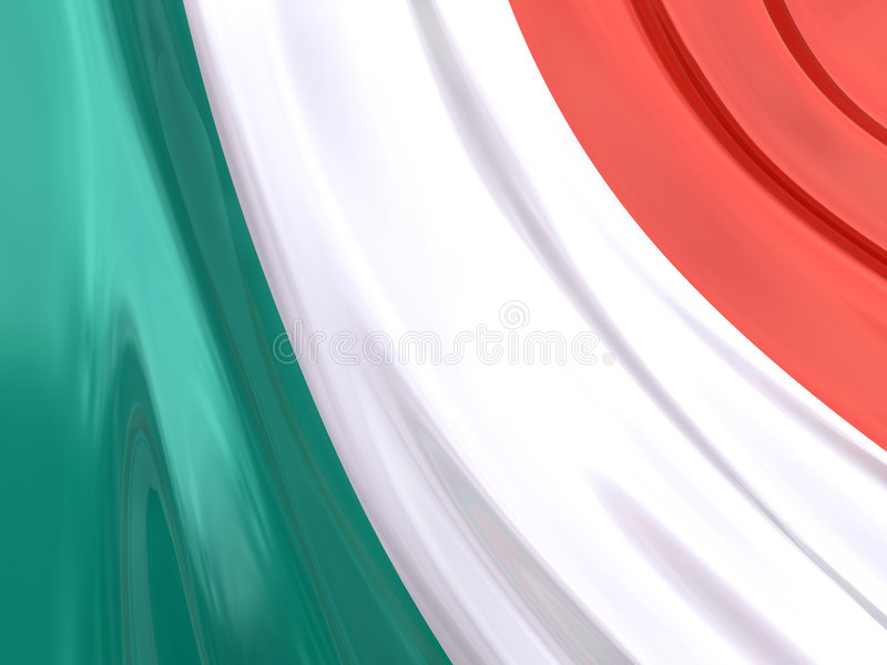 Glossy Flag of Italy vector illustration