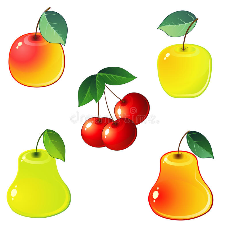 Download Glossy fruit icons stock vector. Image of nature, isolated - 19018406