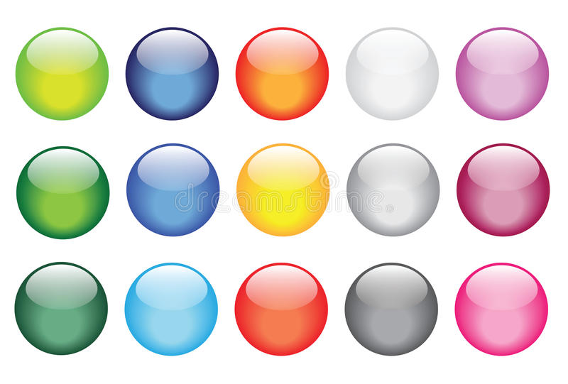 Download Glossy Glass Buttons For Website Icons Stock Illustration - Image: 22634390
