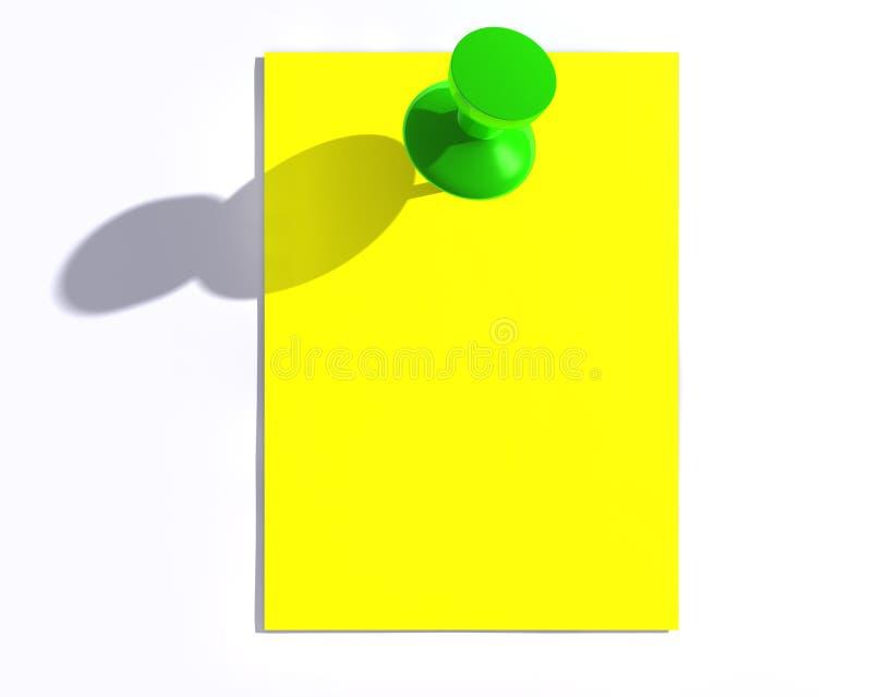 Glossy Green Pin Royalty Free Stock Photography