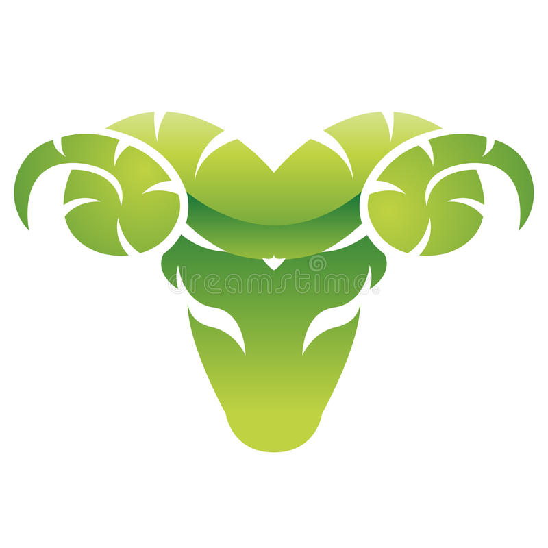Download Glossy green ram stock vector. Image of national, horns - 14978262
