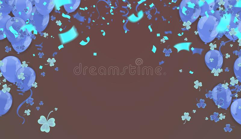Glossy Happy Birthday Balloons Background Vector Illustration eps10 royalty free illustration