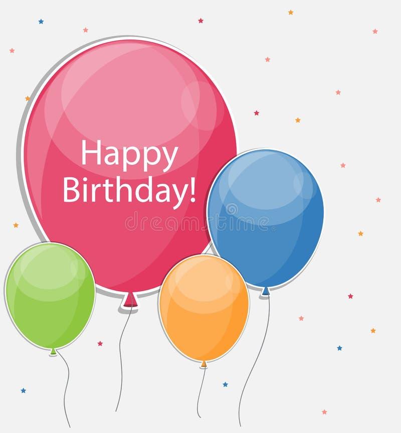 Glossy Happy Birthday Balloons Background Vector Illustration. Eps10 vector illustration