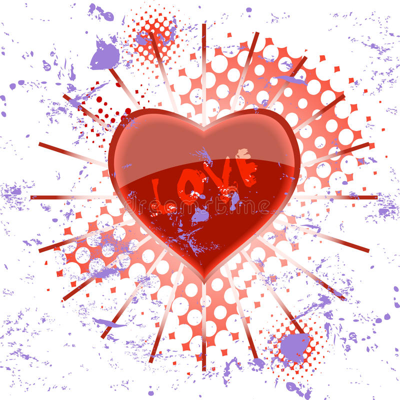 Glossy heart stock illustration