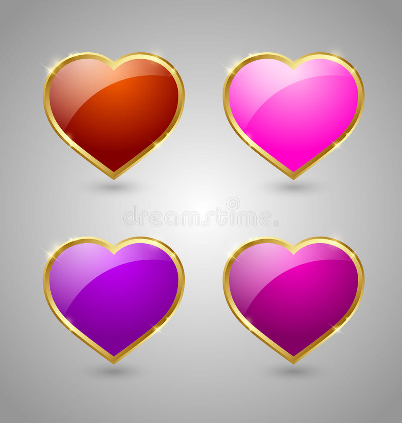 Download Glossy hearts stock vector. Illustration of engagement - 26511625