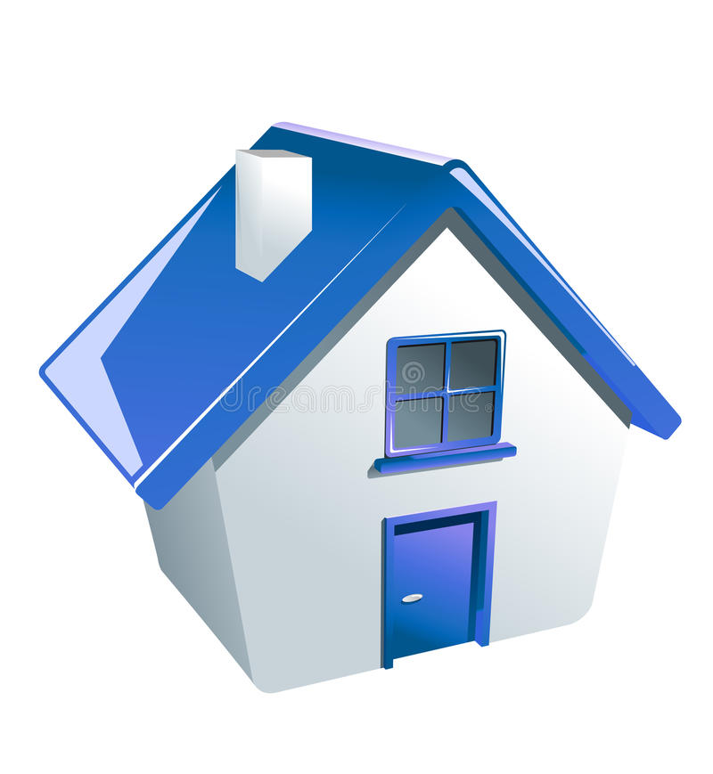 Glossy house icon stock illustration