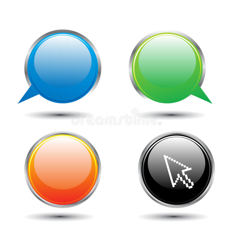 Download Glossy Icon Royalty Free Stock Photos - Image: 9855218
