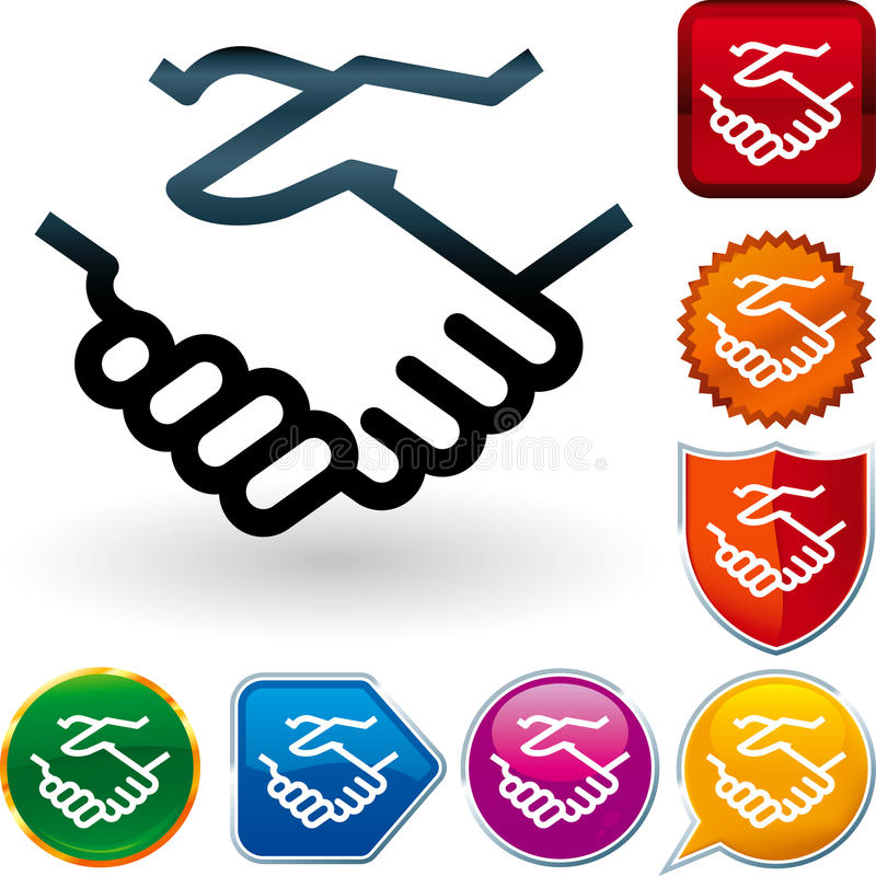 Download Glossy Icon Series: Handshake Stock Vector - Image: 27588023