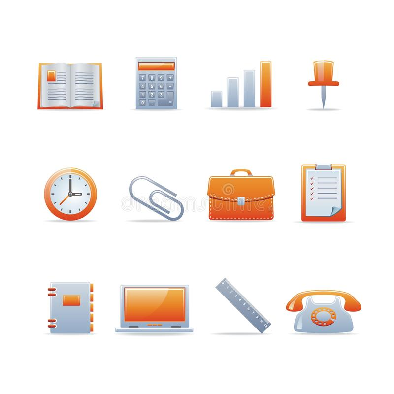 Glossy icon set 2. Set of 12 glossy web icons Part 2 (see other in my portfolio stock illustration