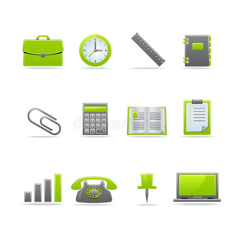 Glossy icon set. Set of 12 glossy web icons Part 2 (see other in my portfolio royalty free illustration