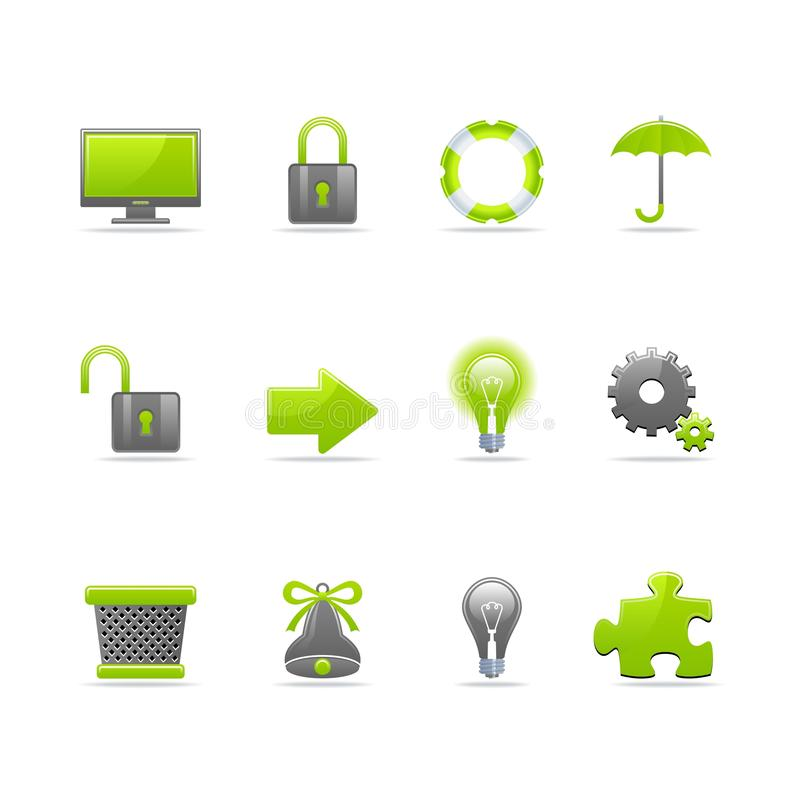 Glossy icon set. Set of 12 glossy web icons Part 3 (see other in my portfolio stock illustration