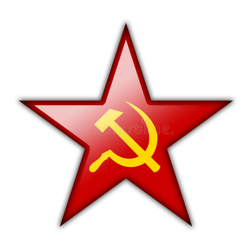 Glossy Icon In The Shape Of The Red Star Stock Image