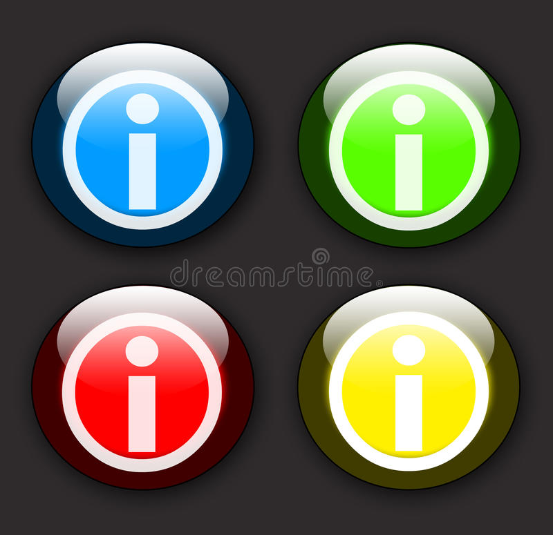 Glossy information buttons royalty free illustration