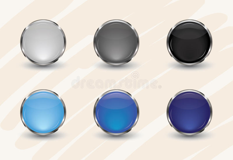 Glossy Interface Icons. Glossy Interface glass Icons royalty free illustration