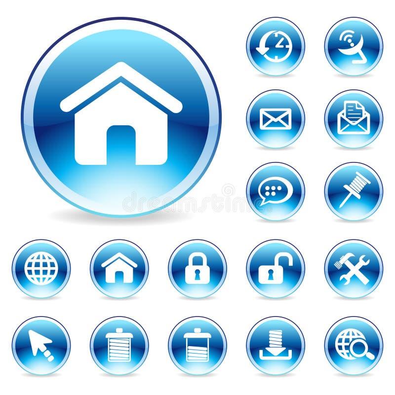 Glossy Internet icon vector illustration