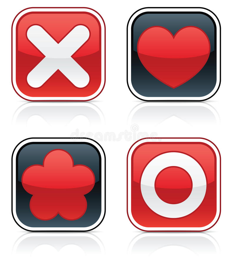 Download Glossy Love Squares stock vector. Illustration of clipart - 16470566